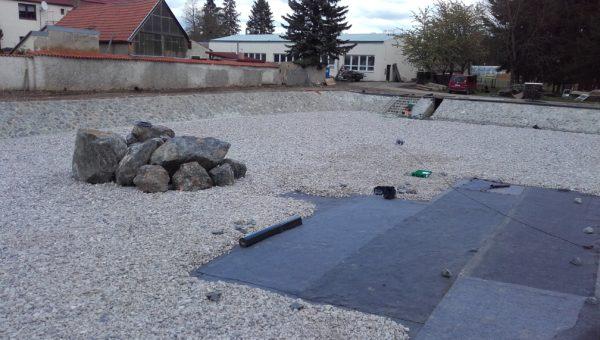 Rekonstrukce rybníka v zámeckém parku Lány